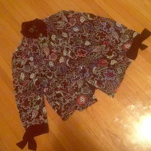 NWT FLORAL BOW EMBROIDERED JACKET FROM ZARA - M